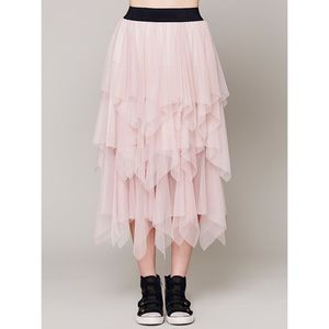Free People Tulle Midi Skirt